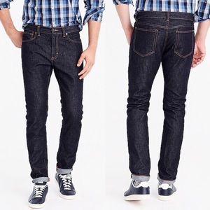 NWT J. Crew Driggs Slim Fit Dark Wash Jeans